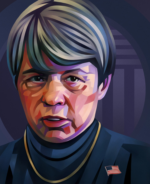 Mary Jo White Portrait Illustration