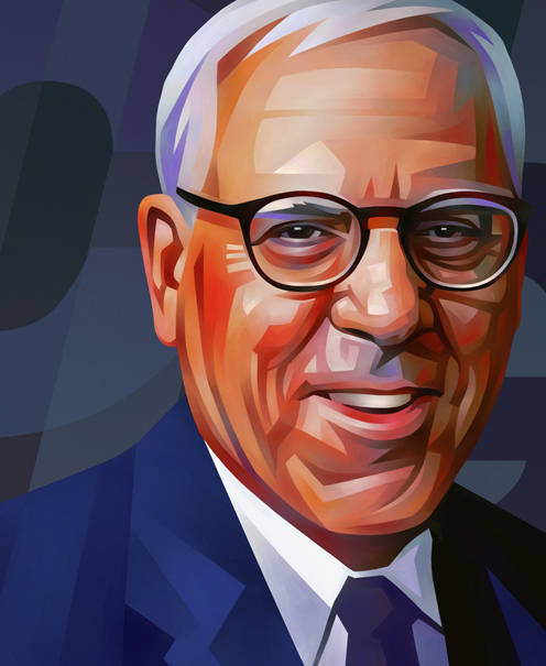 David Rubenstein Portrait Illustration