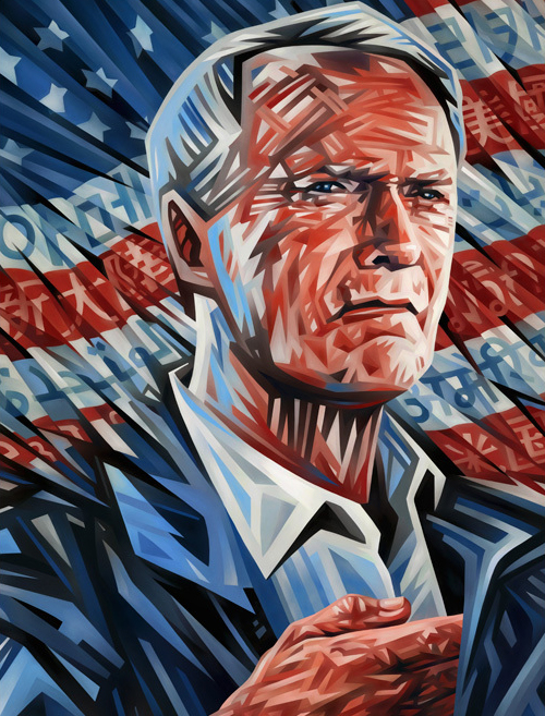 Clint Eastwood Portrait Illustration