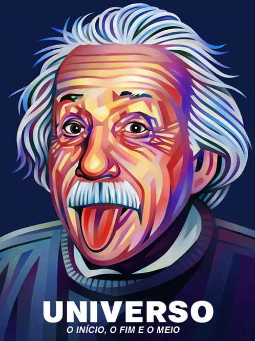 Albert Einstein Portrait Illustration