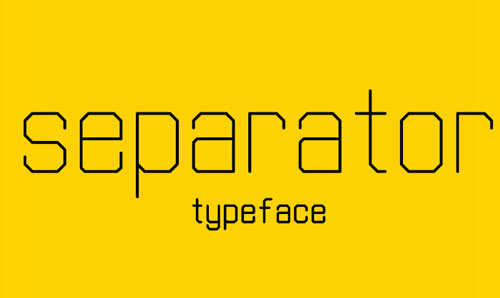 Separator free font for designers