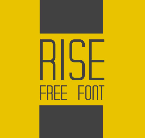 Rise free font for designers