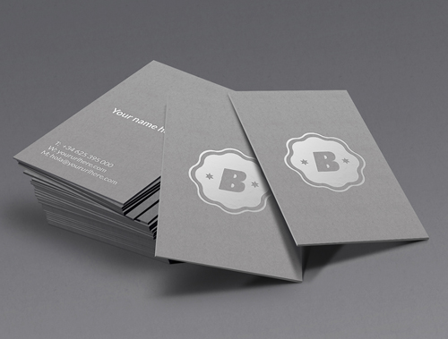 Silver Business Card Mockup PSD files