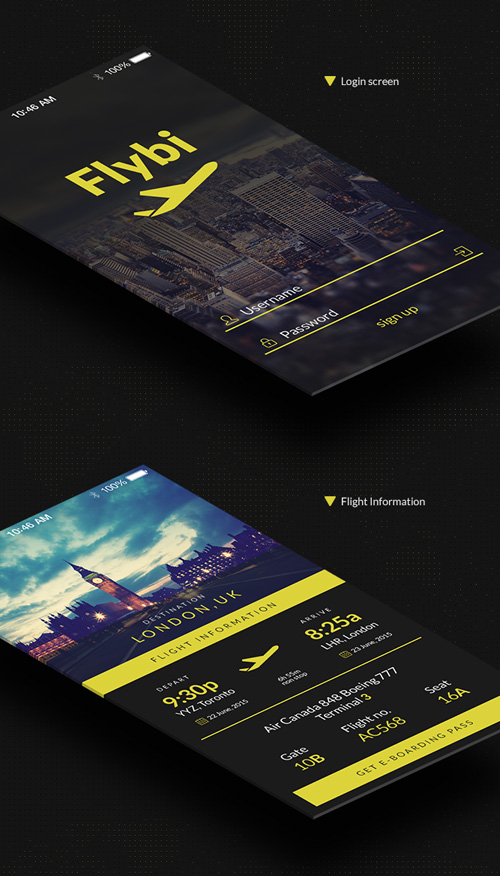 iOS Application Template PSD files
