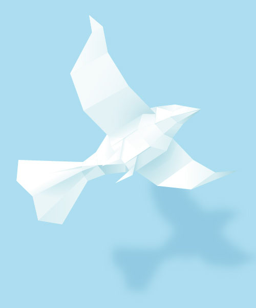 Create a 3D Paper Bird With Geometric Shapes in Adobe Illustrator