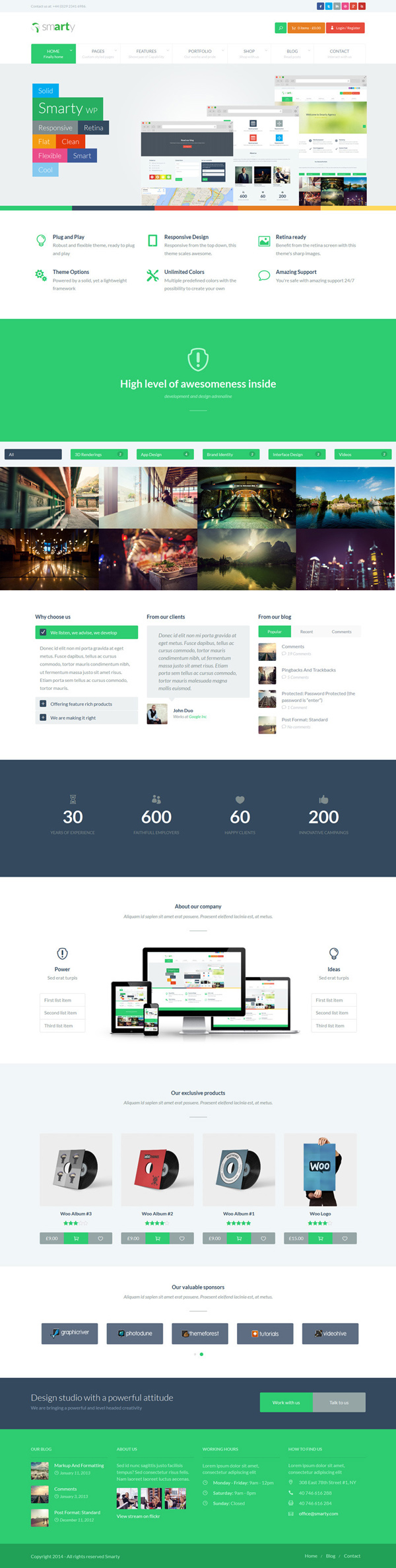Smarty – Portfolio & Shop WordPress Theme
