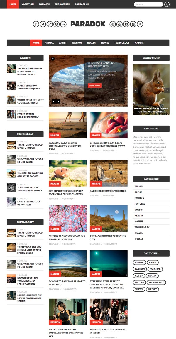 Paradox - Premium WordPress Magazine