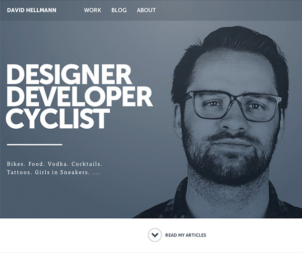 Designer. Developer. Cyclist Responsive Website
