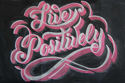 Live Positively typography by Scott Biersack