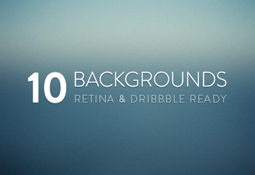 Free Blurred Backgrounds: Retina & Dribbble Ready (10 Items)