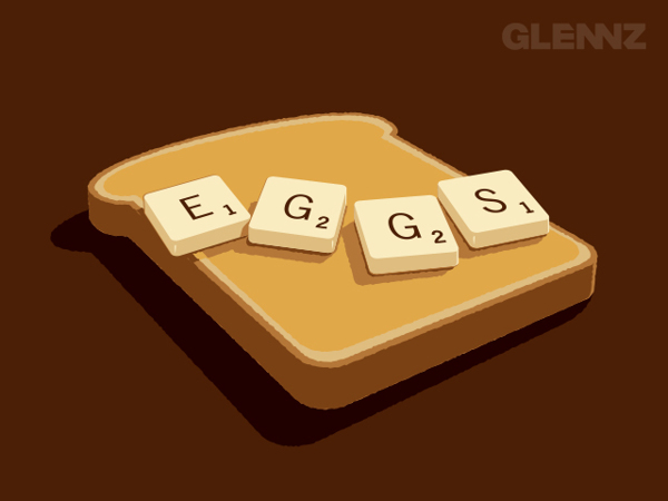 Scrabbled Eggs T-Shirt Illustrations