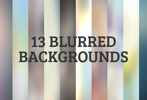 High-Resolution Blur Backgrounds (13 Items)