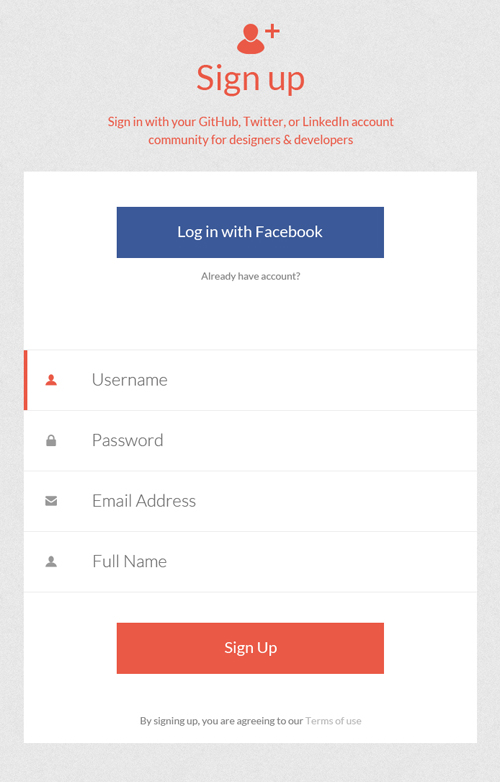Modern Sign UP / Login Forms UI Designs-18