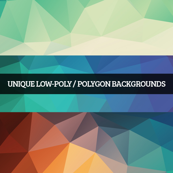 Unique Low Poly Polygon Backgrounds