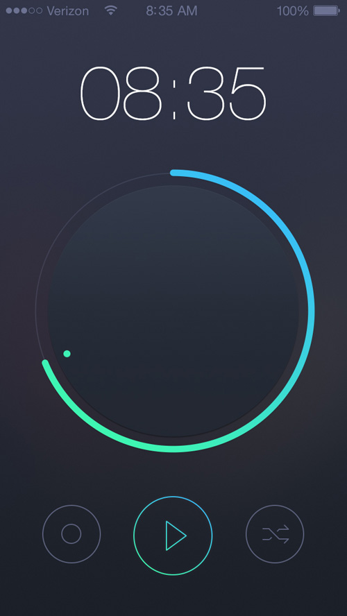 Mobile Apps with Circular Vibe Menus - 2