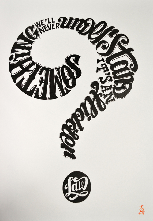 Calligrams typography by Daniele Tozzi