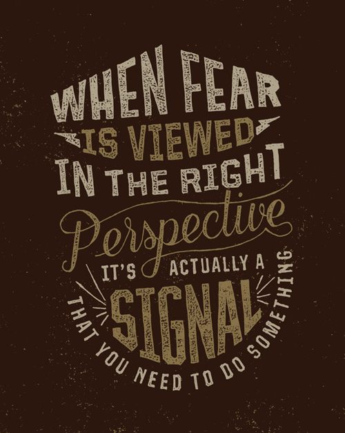 When Fear is Viewed typography by Zac Jacobson