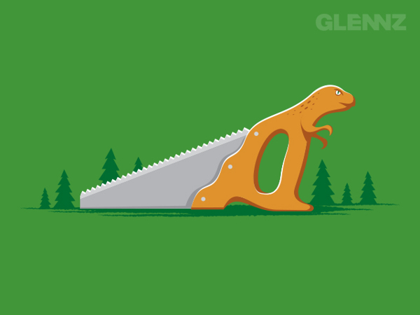 Dinosaw T-Shirt Illustrations