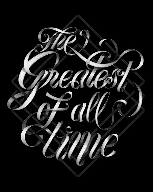 The Greatest of all Time typography by Baimu