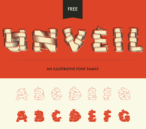 Unveil Free Vector Font