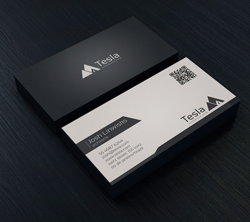 minimal business card template - Template For Business Cards