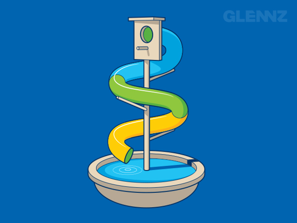 Water Slide T-Shirt Illustrations