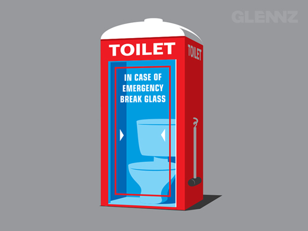 Emergency Toilet T-Shirt Illustrations