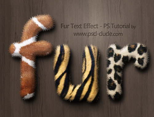 Create A Fur Text Style In Photoshop