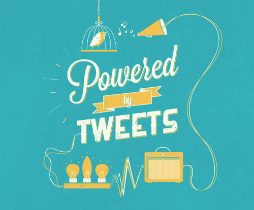 Powered by Tweets typography by Rossana Piazzini