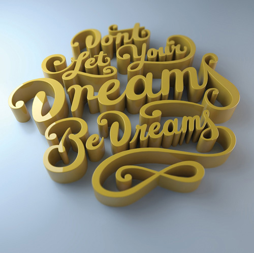 Learn the best ways to create 3D type Photoshop Tutorial