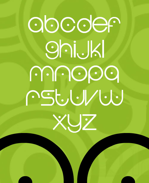 Cycledown fonts glyphs