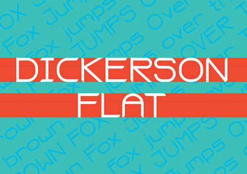 Dickerson Flat free fonts