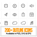 Post Thumbnail of 260+ Free Outline Icons For Designers