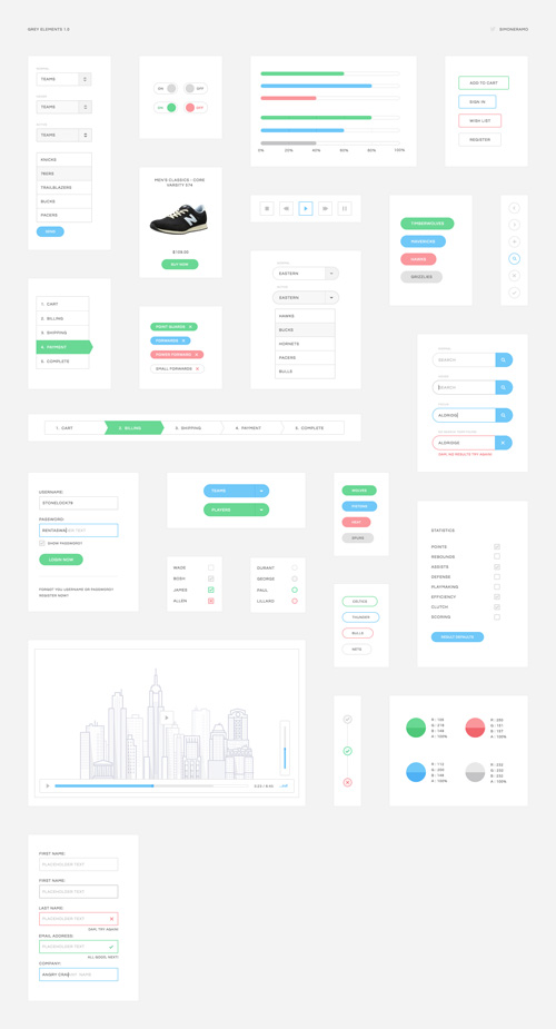 Grey Elements UI Kit