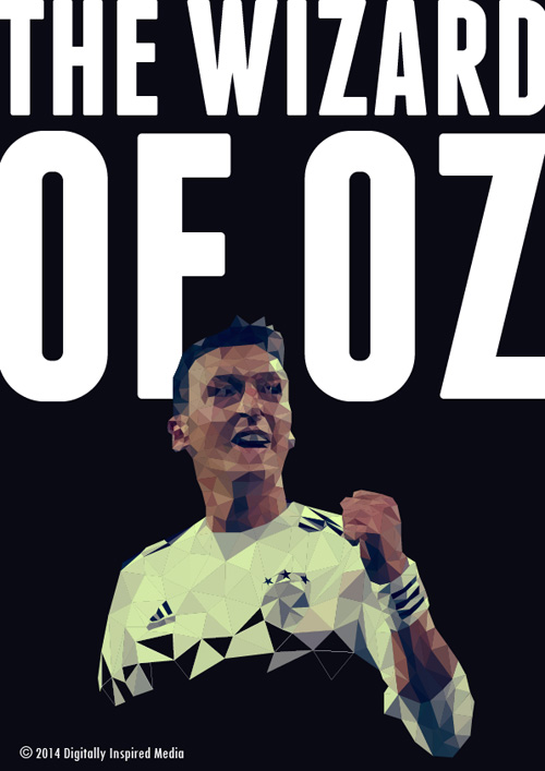 Mesut Ozil Lowpoly Poster