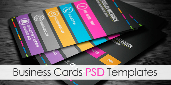Modern Business Cards Psd Templates Design Graphic