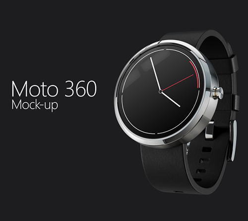 Moto 360 Mock-Up