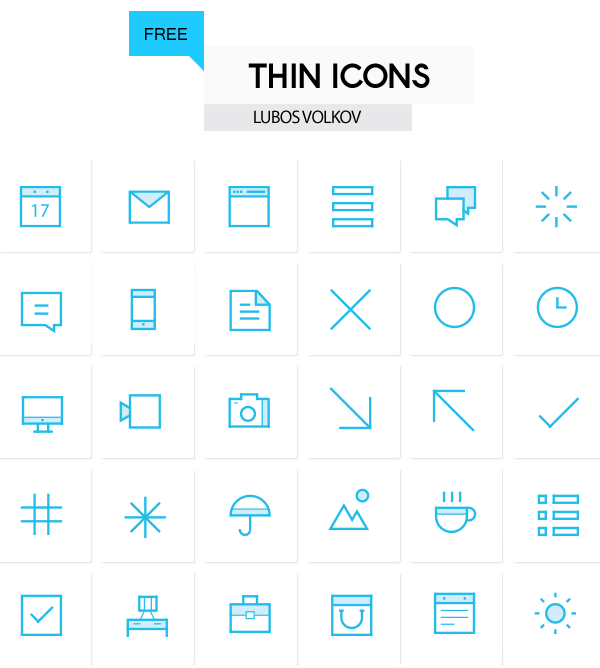 Outline Thin Icons for Designers