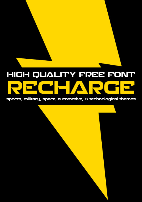 Recharge free fonts