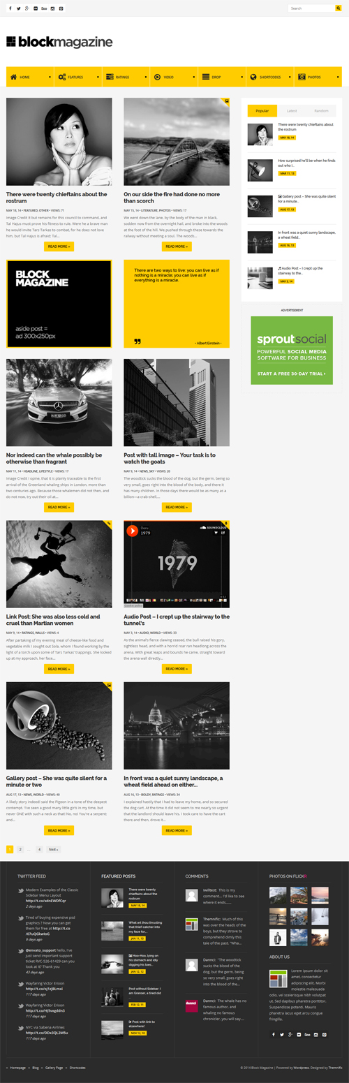Block Magazine – Flat and Minimalist Blog Theme
