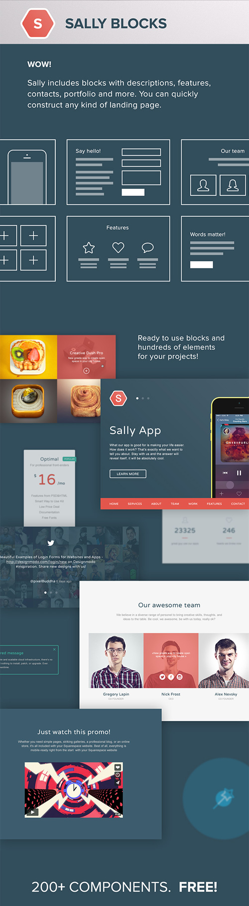 Sally Blocks UI Elements