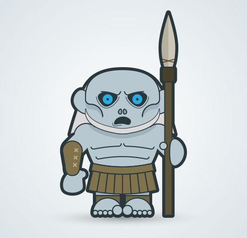 Create a white walker in Adobe Illustrator