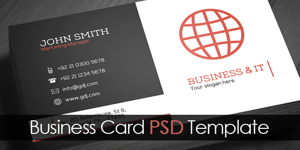 Free corporate business card template psd freebies graphic free corporate business card template psd accmission