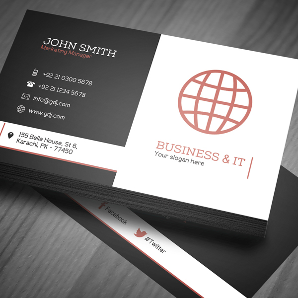 Free corporate business card template psd freebies graphic corporate business card design preview accmission