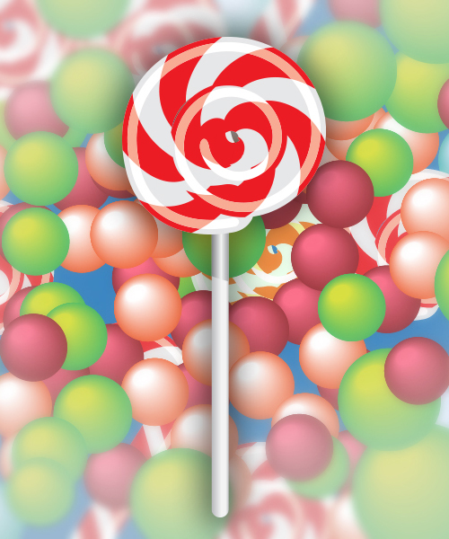 How to Create Sweet Lollipop Vector in Illustrator Tutorial