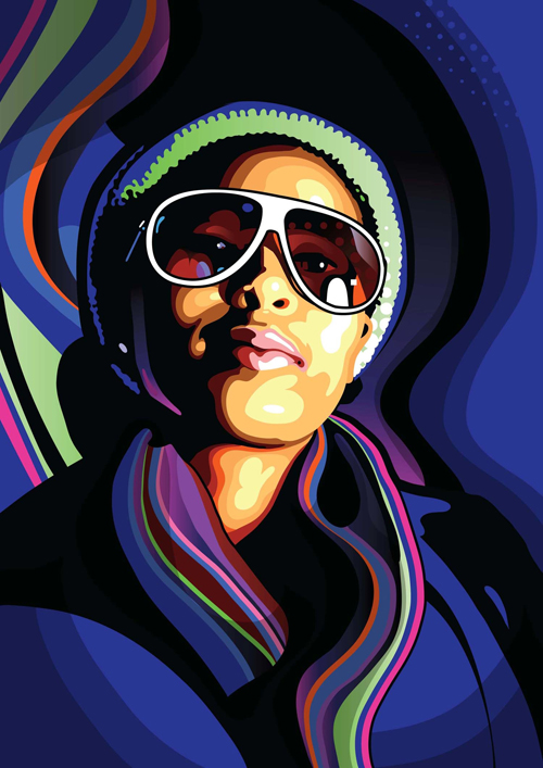Create stylish Vector Portraits in Adobe Illustrator Tutorial