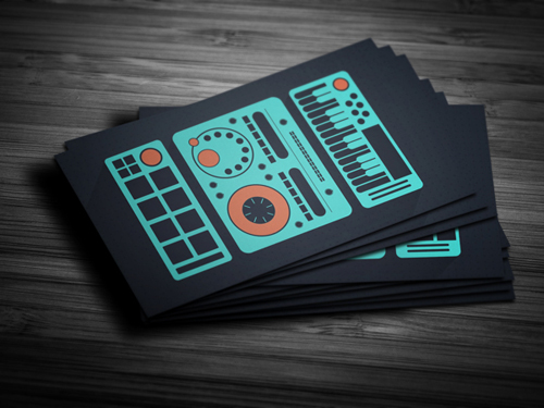 Amazing dj business cards psd templates design graphic design flat producer dj business card accmission Choice Image