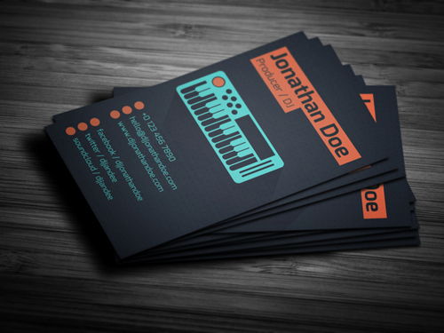 Flat Producer / DJ Business Card