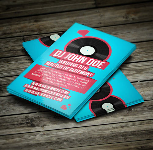 Amazing dj business cards psd templates design graphic design wedding dj retro business card flashek Images