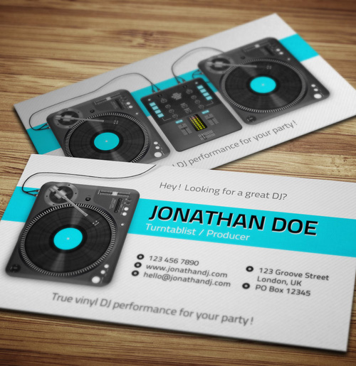 Dj busines card dawaydabrowa dj busines card amazing dj business cards psd templates accmission Choice Image